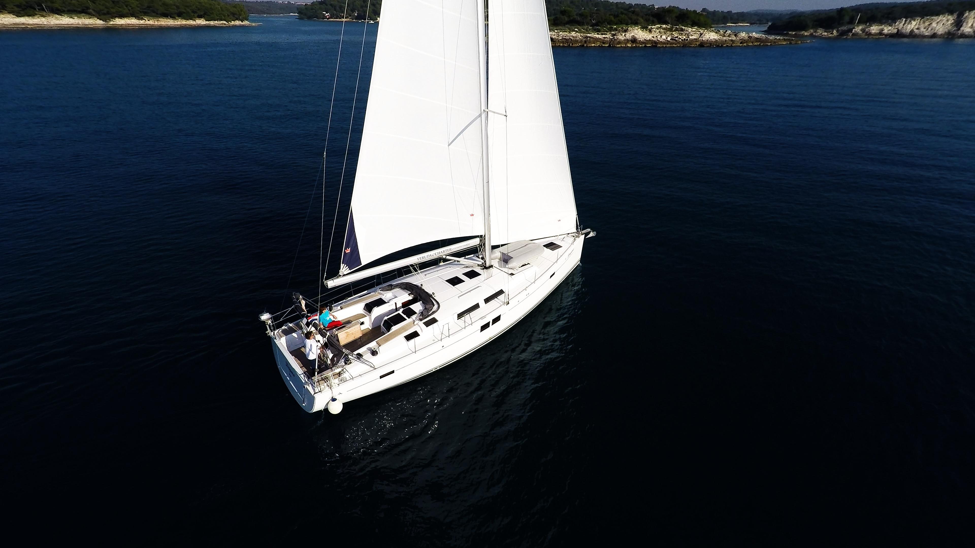barcha a vela yacht a vela Hanse 505 veleggiare al mare isole