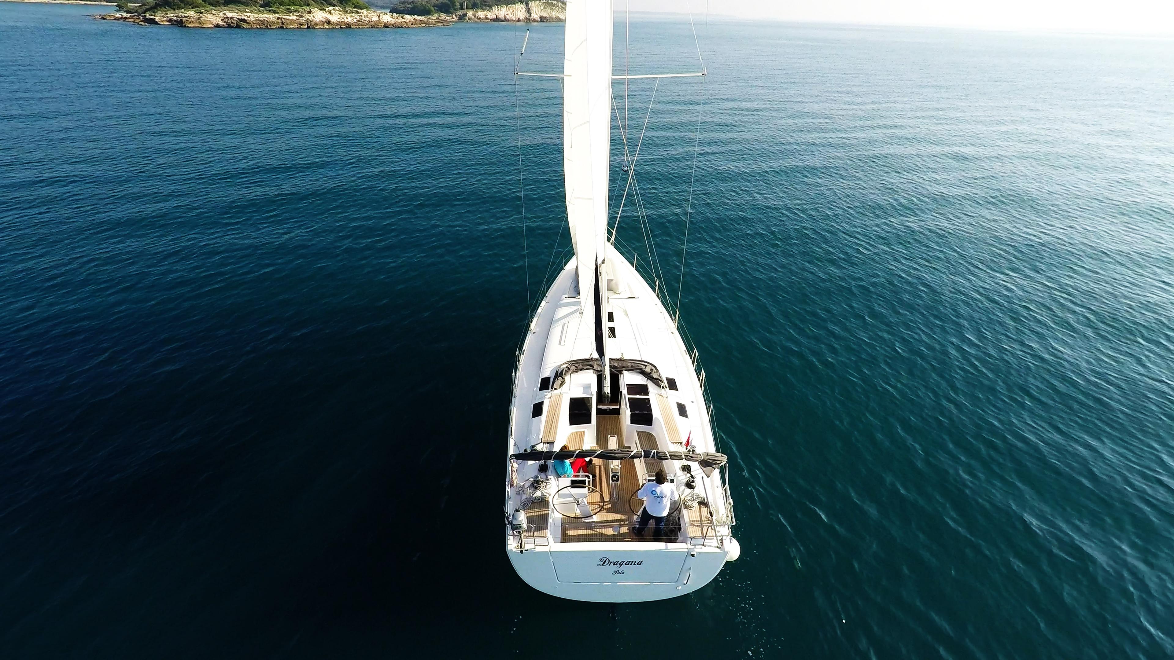 barcha a vela yacht a vela Hanse 505 timone ruota isola mare Croatia