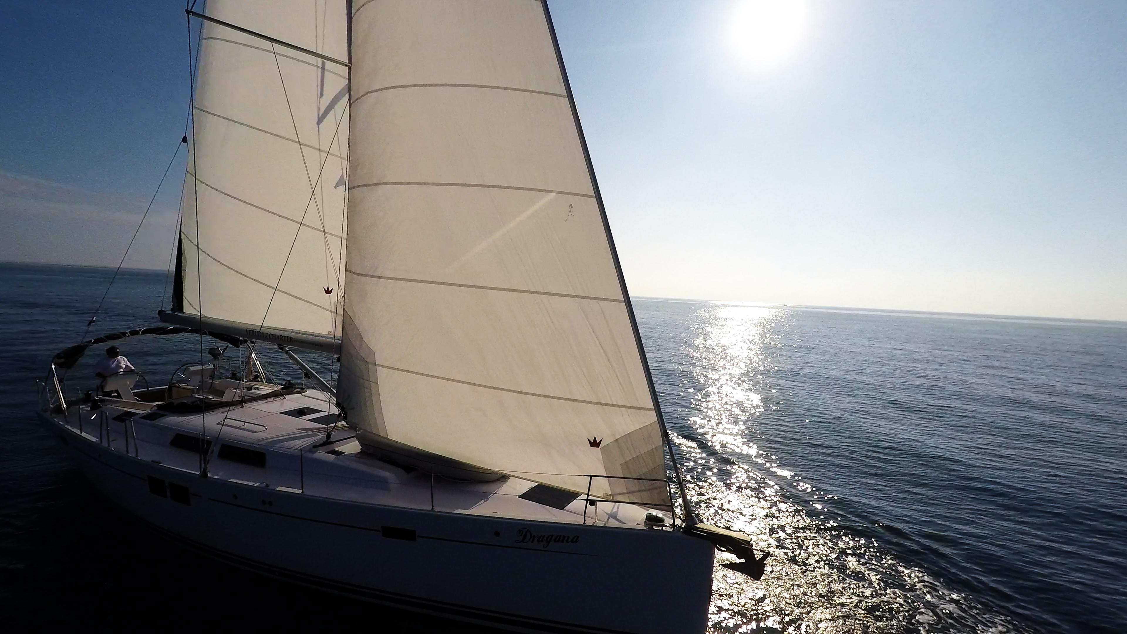 barcha a vela sole vele barca a vela mare yacht a vela Hanse 505