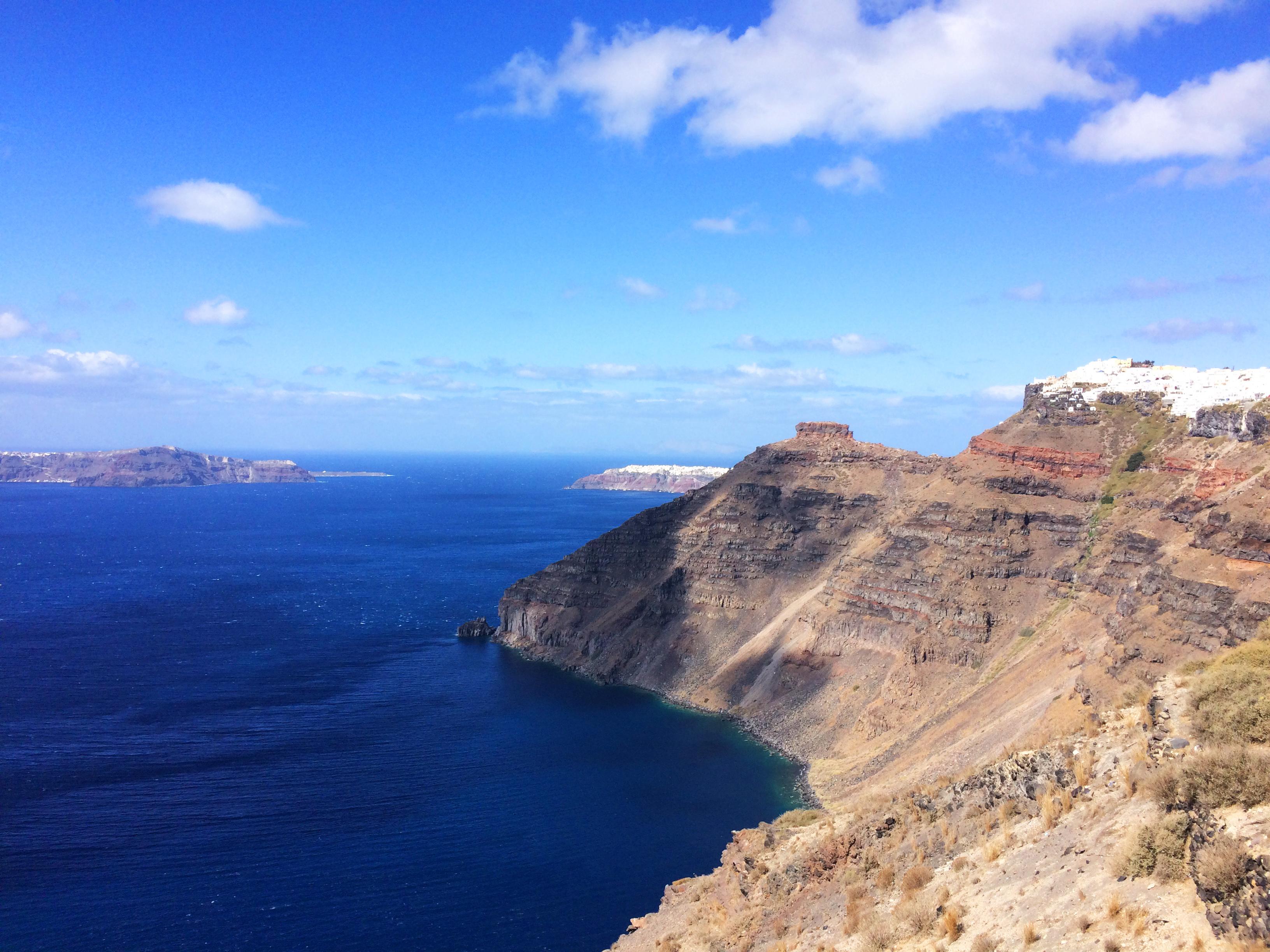 costa isola Santorini Grecia paesaggio
