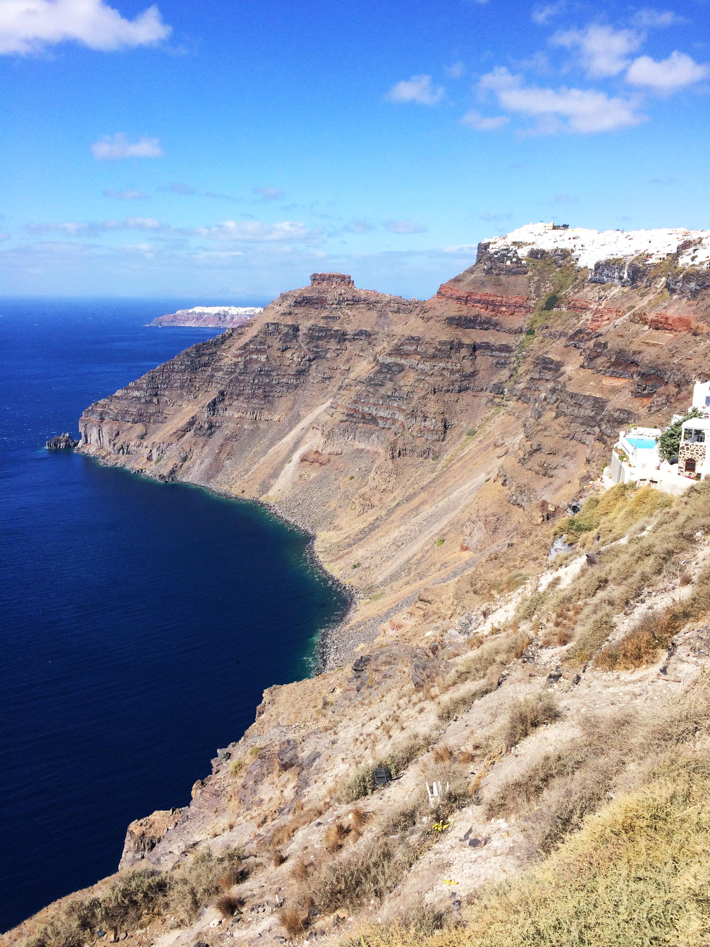costa Santorini Grecia isola