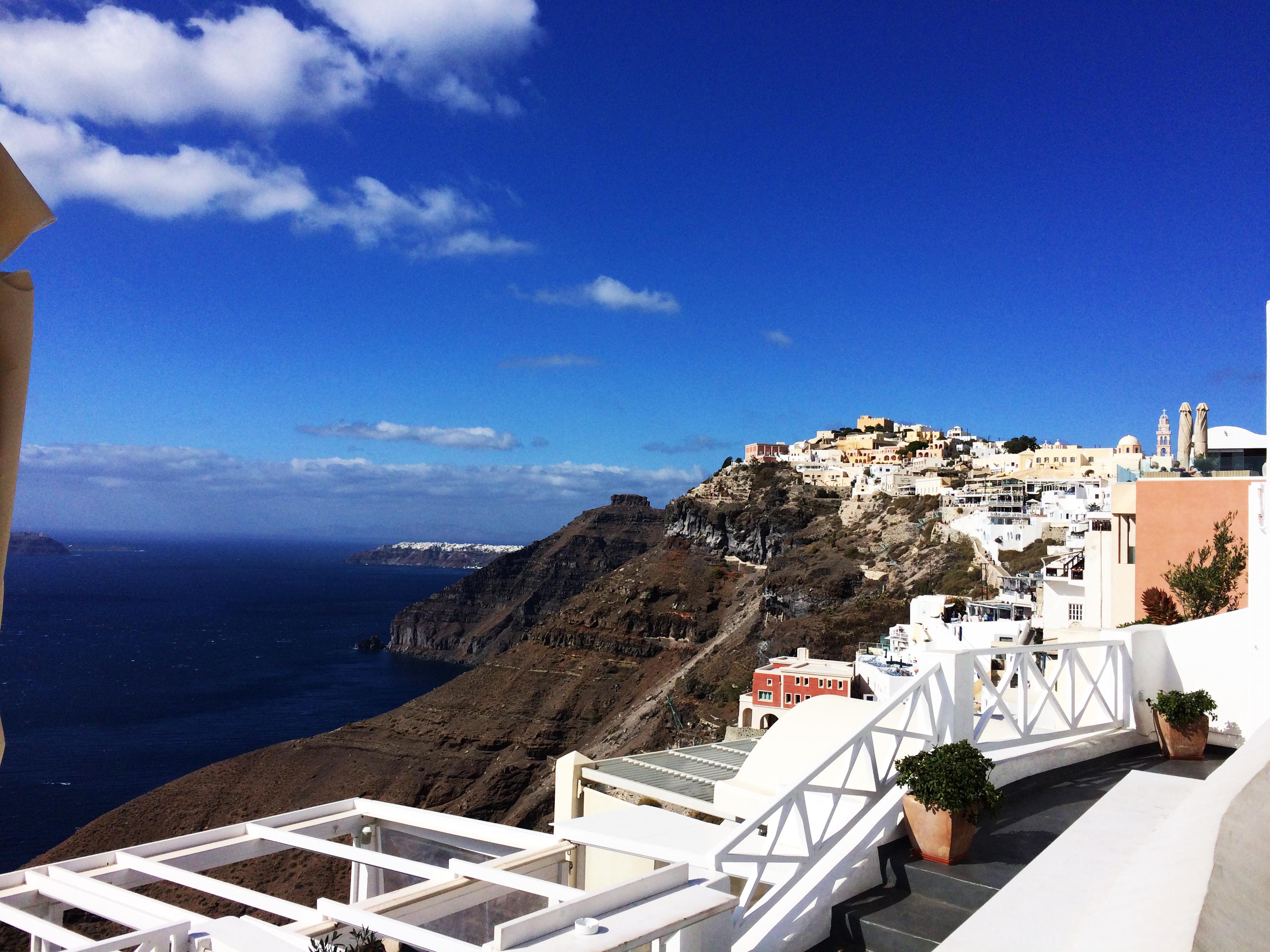 Santorini Grecia mare blu