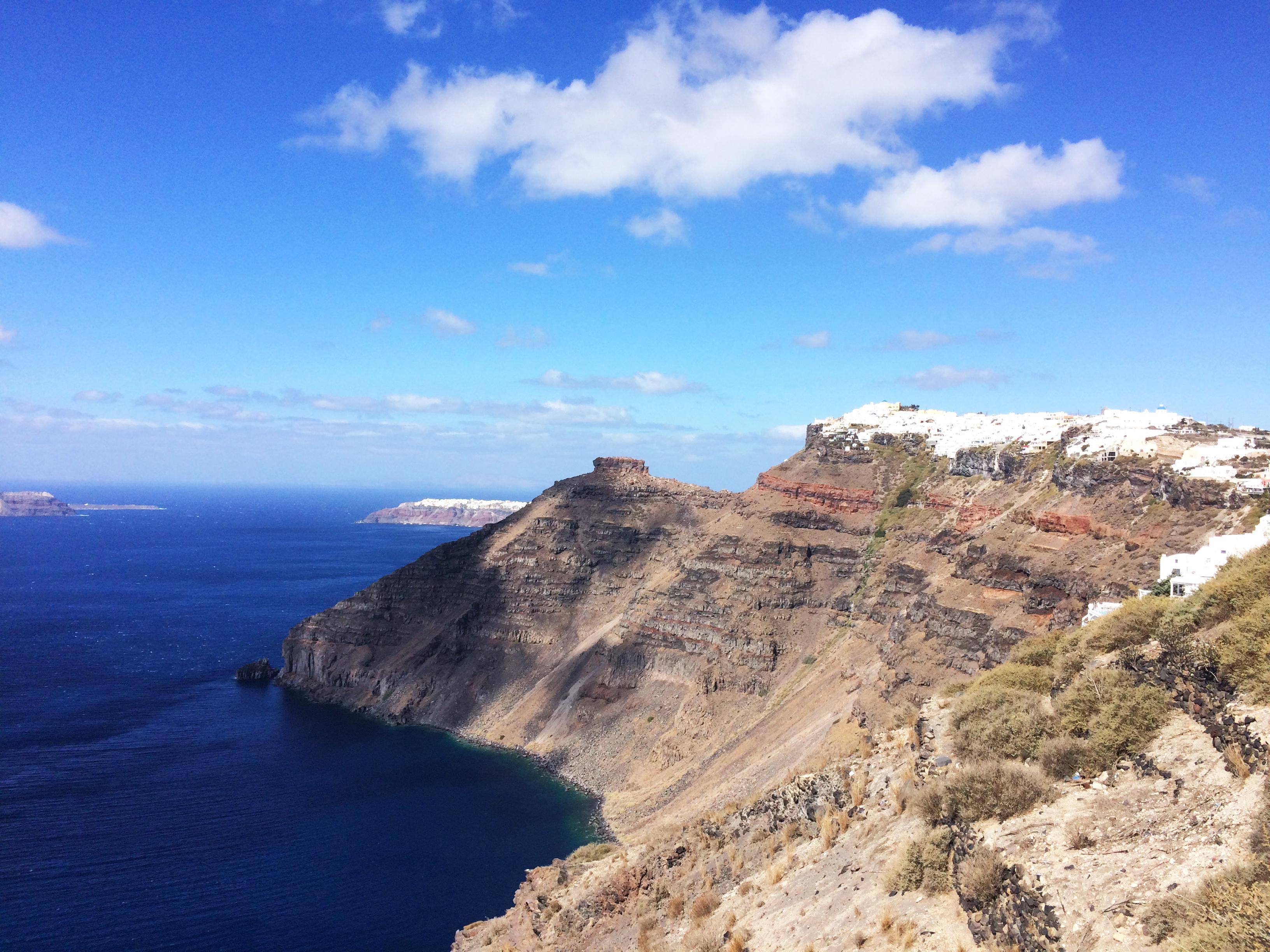 Santorini Grecia paesaggio isole del mare