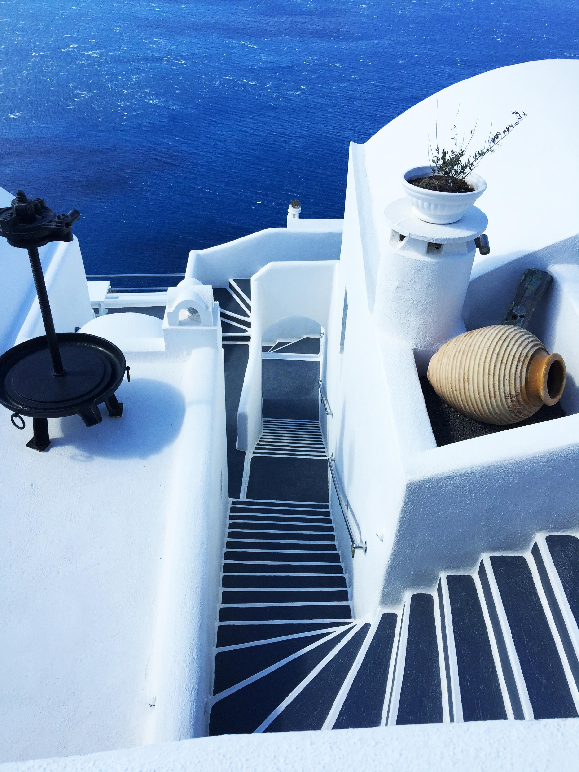 Santorini le scale Grecia