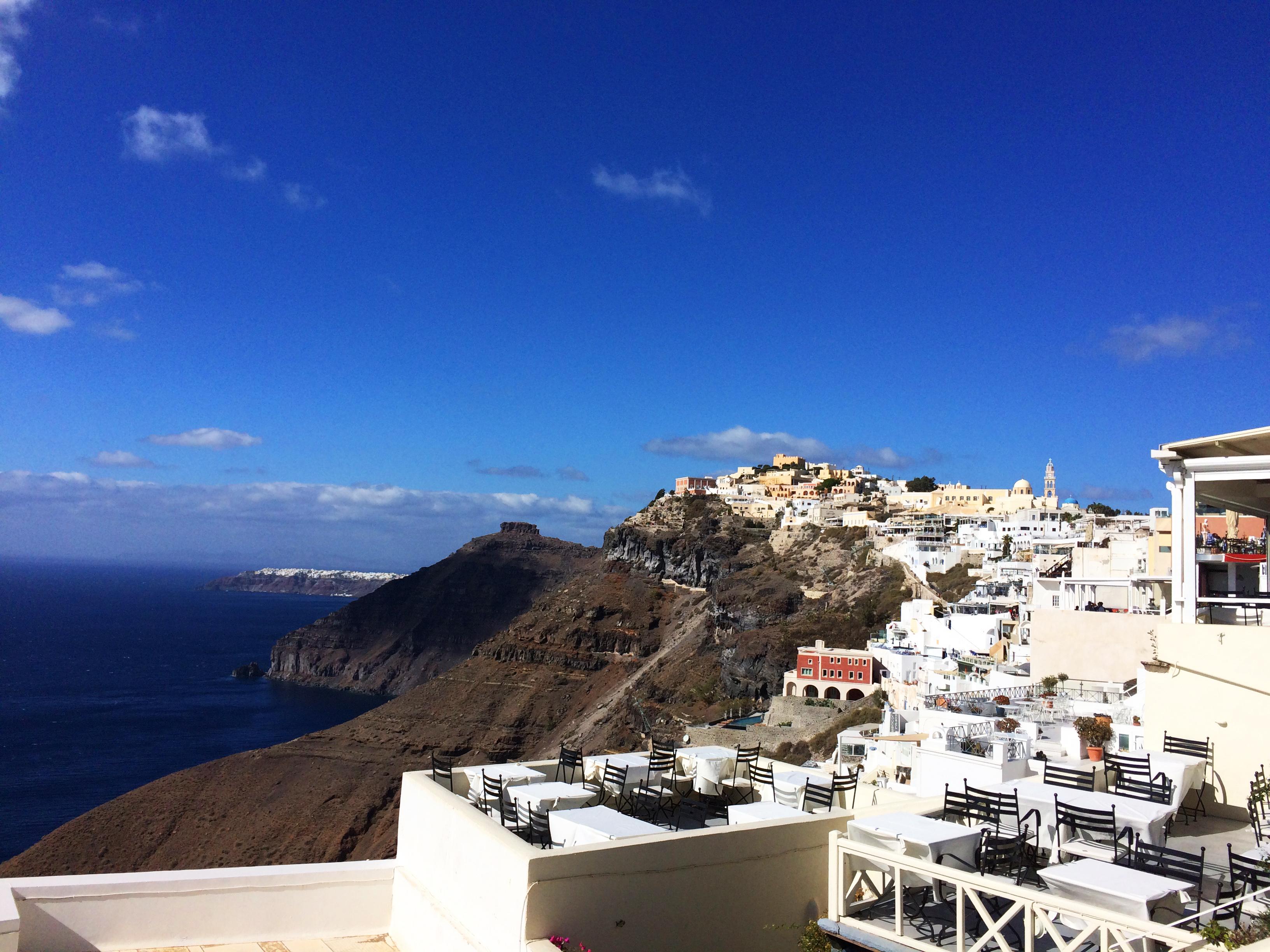 Santorini terrazza Grecia