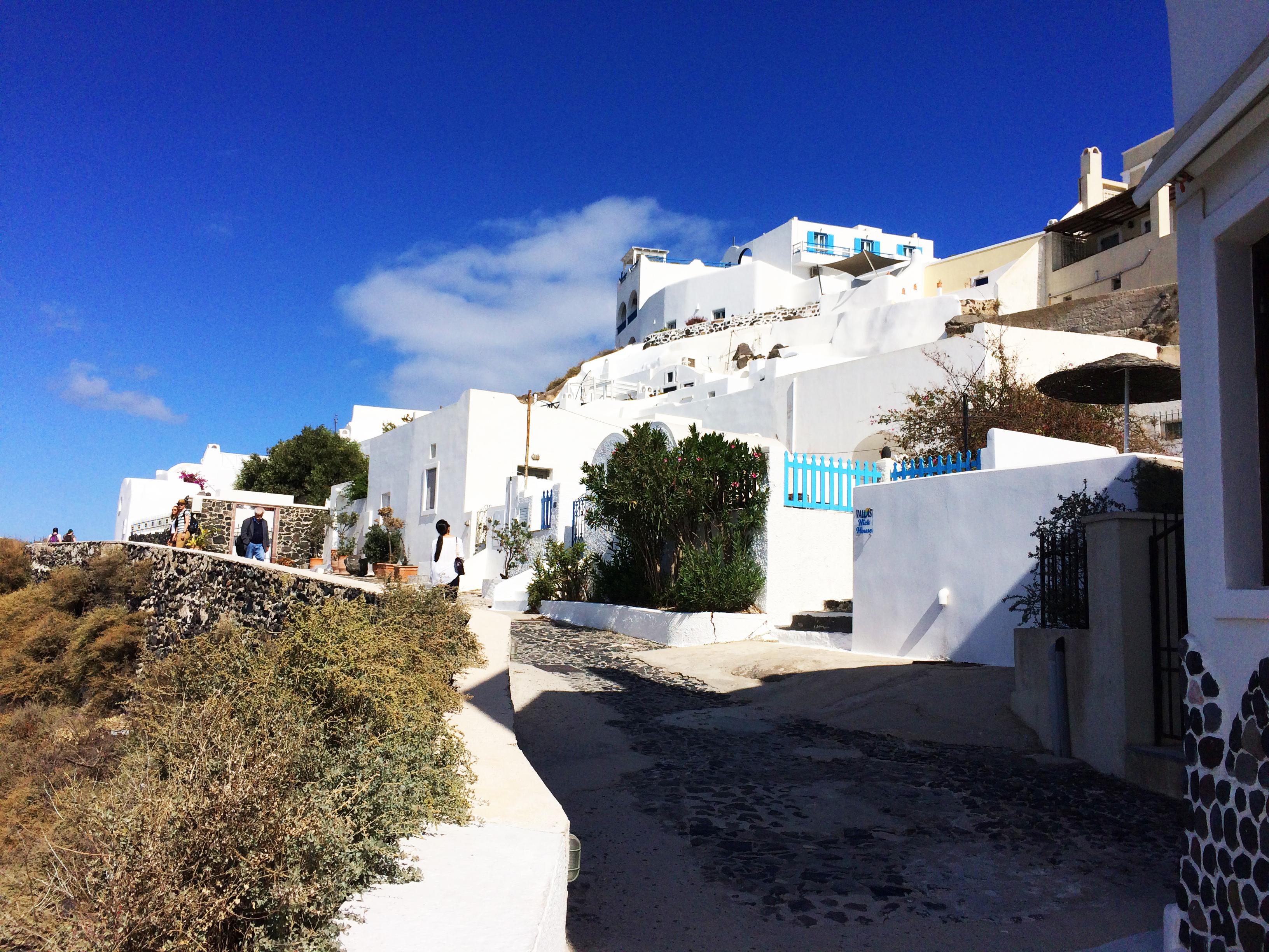 strada Santorini Grecia